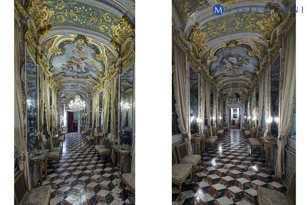 Galleria nazionale di Palazzo Spinola, Genova. Galleria degli specchi, secondo piano nobile.