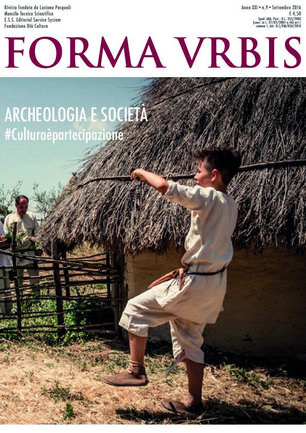 Cover Archeologia e società Forma Urbis settembre 2016