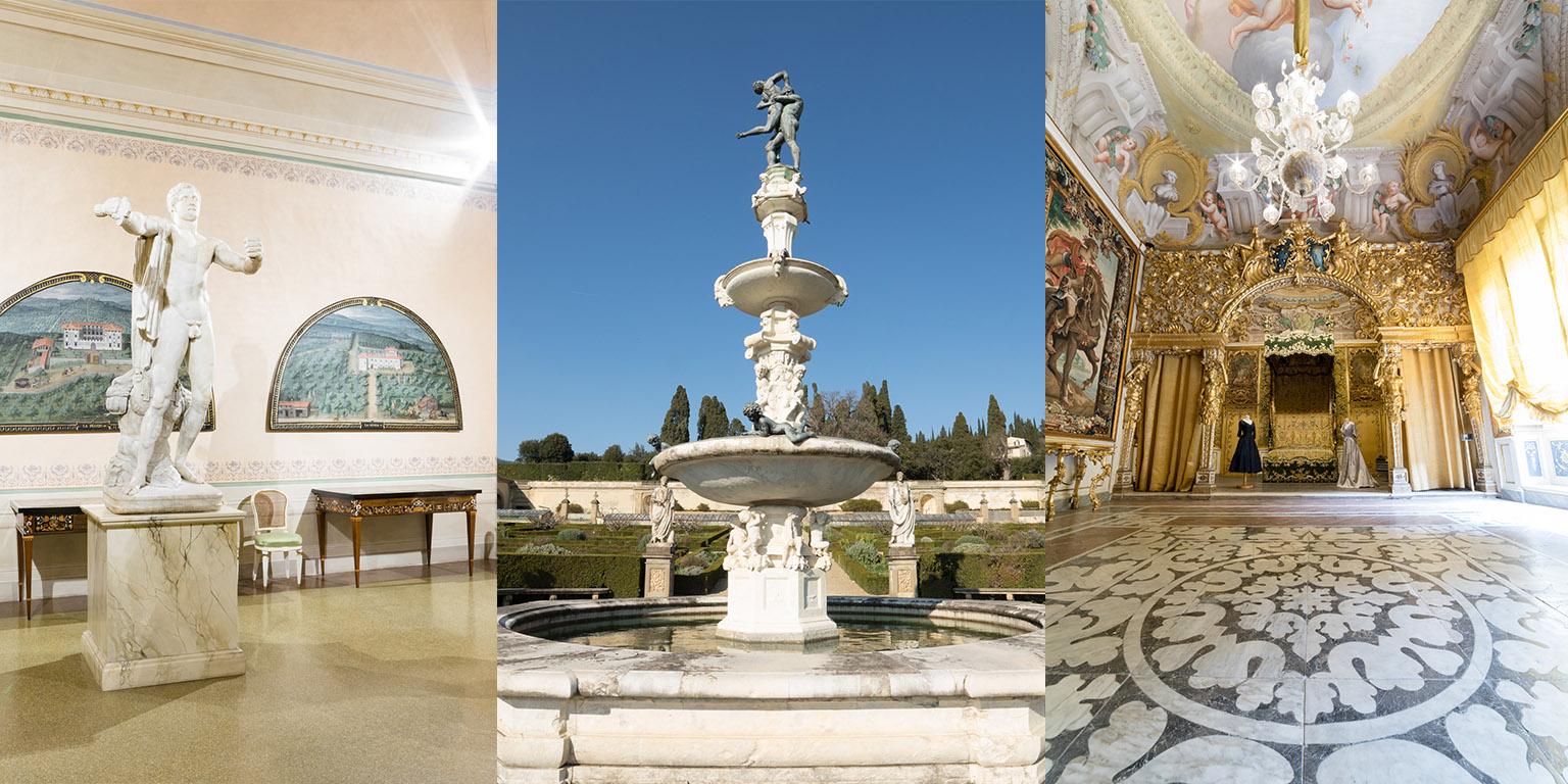 Villa Medicea della Petraia Giardino della Villa medicea di Castello Museo di Palazzo Mansi, Lucca