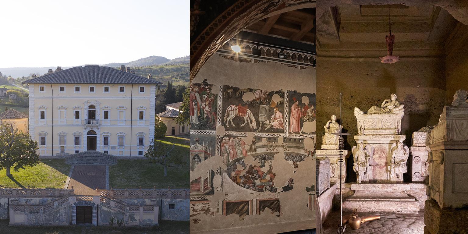 Villa del Colle del Cardinale Rocca Albornoz – Museo nazionale del Ducato di Spoleto Ipogeo dei Volumni e Necropoli del Palazzone